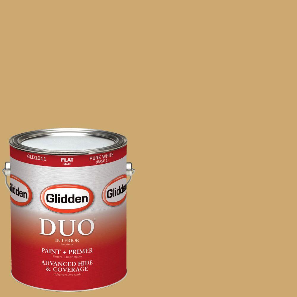 Glidden DUO 1 gal. #HDGY38D King's Ransom Gold Flat Latex Interior