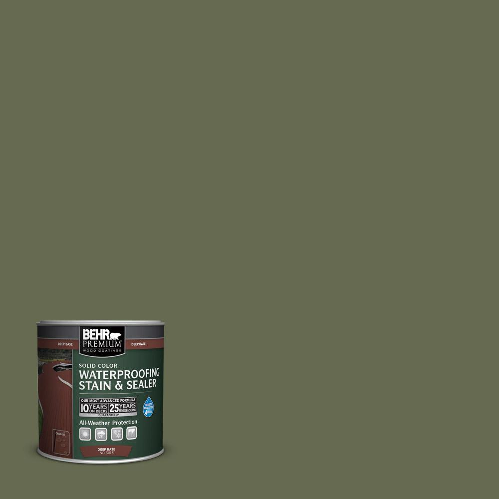 8 oz. #SC138 Sagebrush Green Solid Color Waterproofing Stain and Sealer
