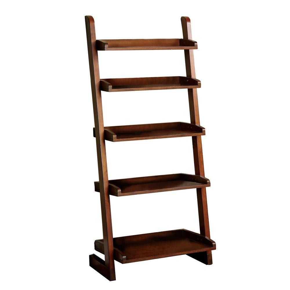 Home Decorators Collection Lugo 5 Shelf Ladder Display In Oak Cm Ac293 The Home Depot