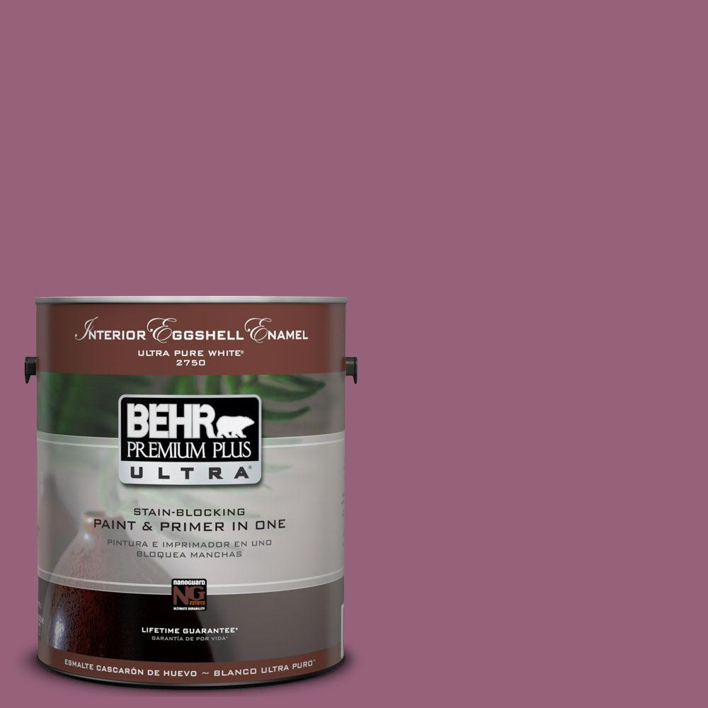 BEHR Premium Plus Ultra 1-gal. #UL100-17 Forest Berry Interior Flat Enamel Paint