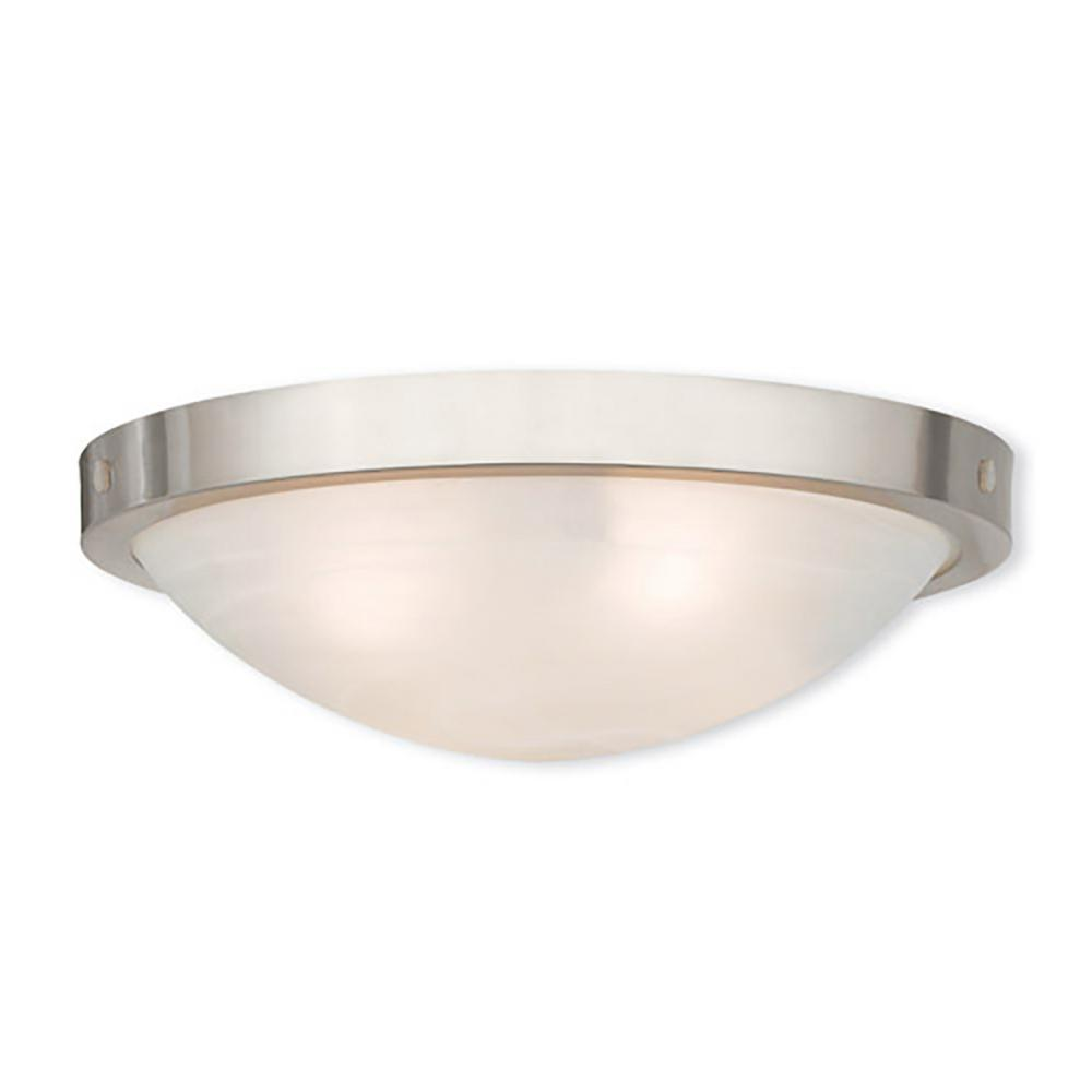 New 4-Light Brushed Nickel Flushmount