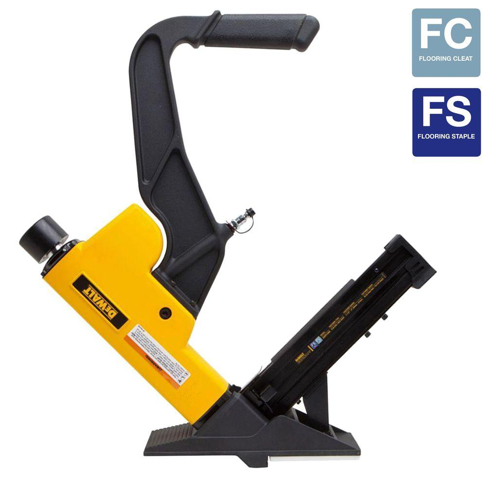 15.5-Gauge and 16-Gauge 2-in-1 Pneumatic Flooring Tool