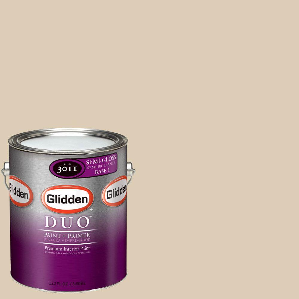 Glidden DUO 1-gal. #GLN05 Water Chestnut Semi-Gloss Interior Paint with Primer
