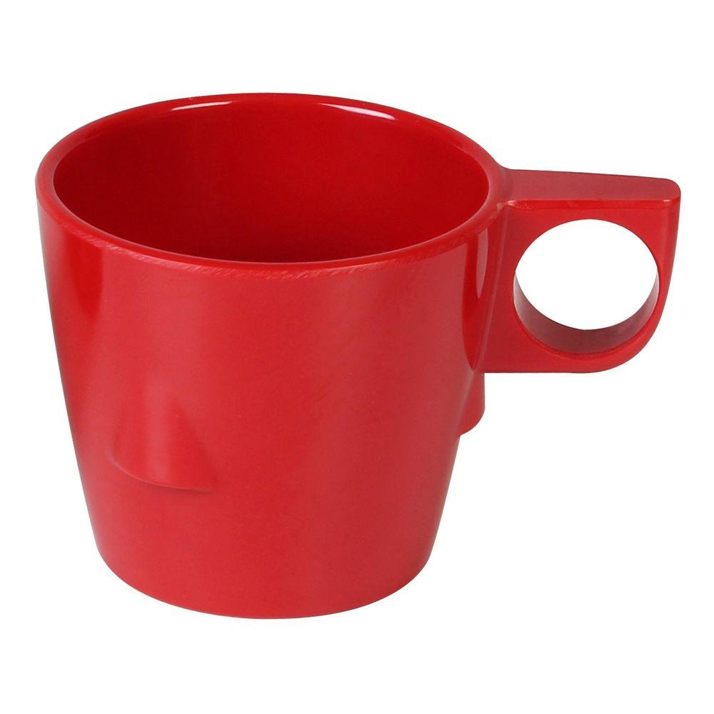 Restaurant Essentials Coleur 7 oz., 3-1/4 in. Stacking Cup in Pure Red (12-Piece)