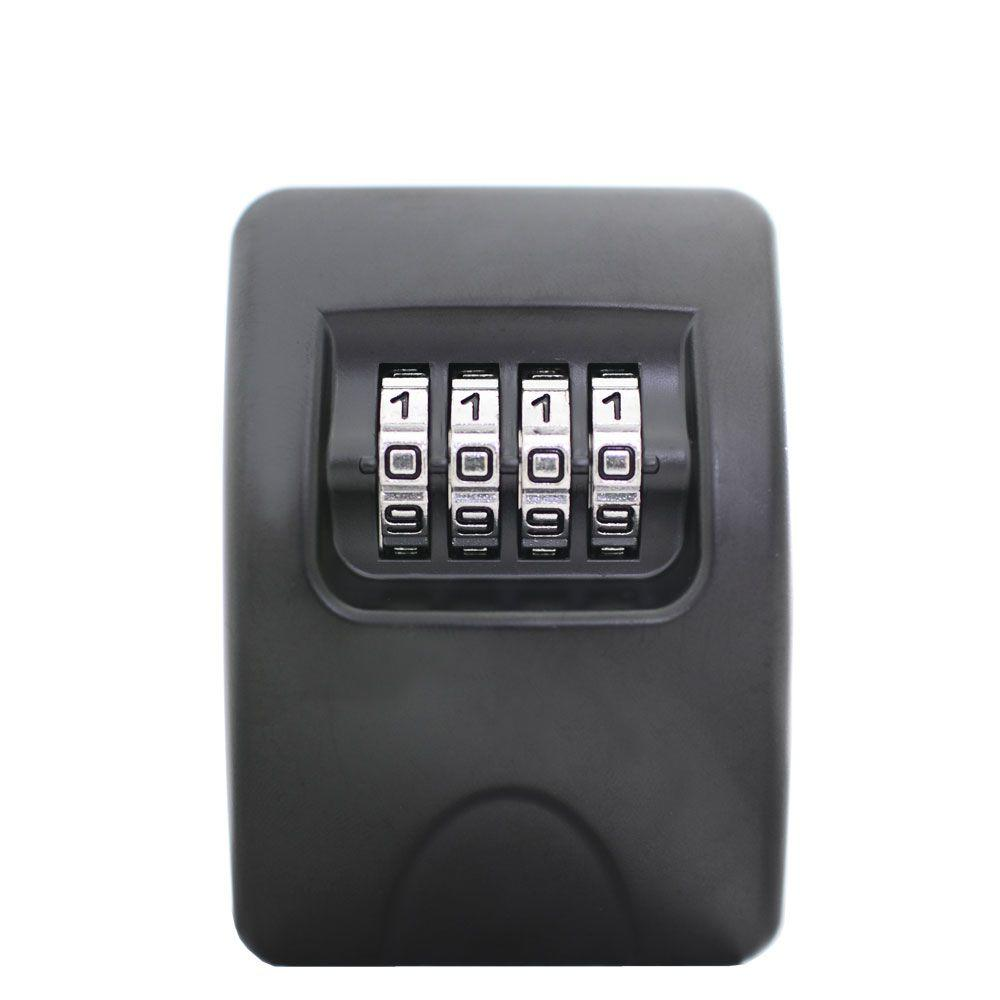 Small Wall-Mounted Key Lockbox in Black