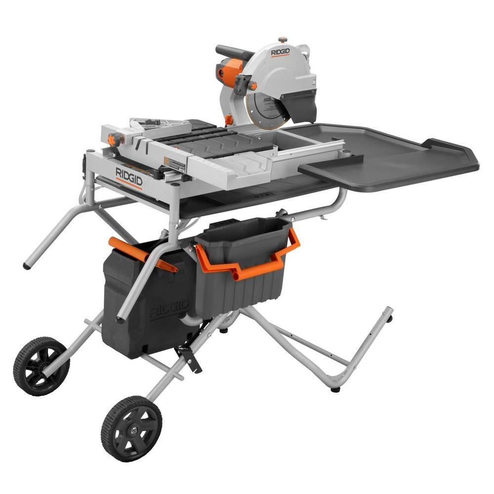 RIDGID 10 in. Portable Tile Saw with Laser-DISCONTINUED