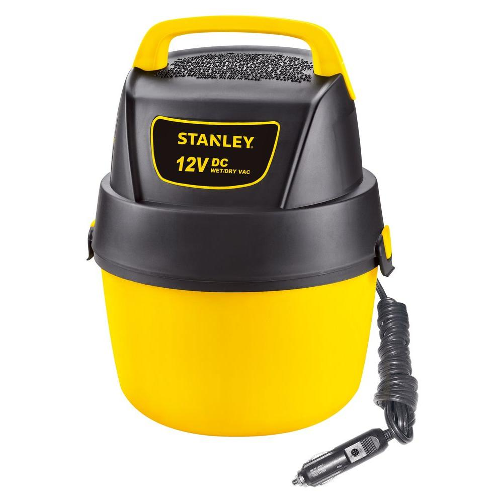 Stanley 1 Gal. 12-Volt DC Wet/Dry Vacuum-SL18125DC - The Home Depot