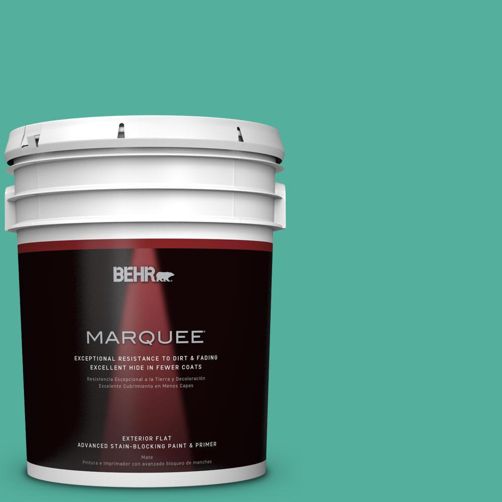 BEHR MARQUEE 5-gal. #P440-5 Water Park Flat Exterior Paint-445405 - The