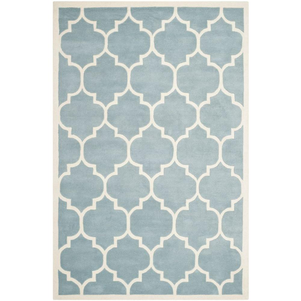 Safavieh Chatham Blue/Ivory 5 ft. x 8 ft. Area Rug-CHT733B-5 -
