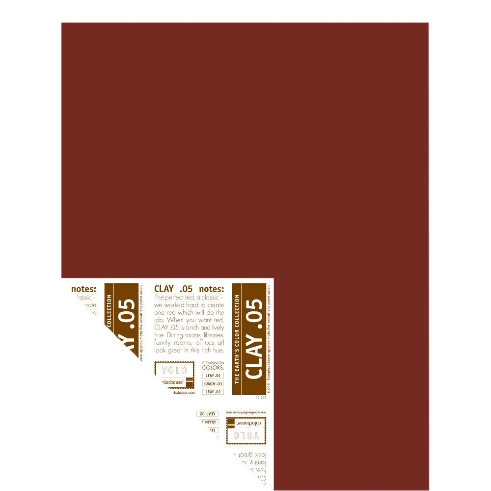 YOLO Colorhouse 12 in. x 16 in. Clay .05 Pre-Painted Big Chip Sample