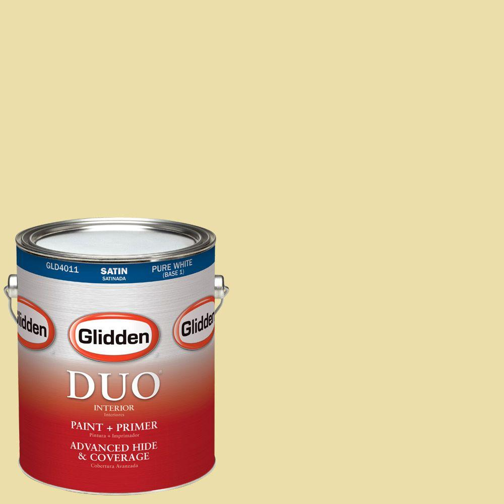 Glidden DUO 1-gal. #HDGY59 Candle Glow Satin Latex Interior Paint with Primer