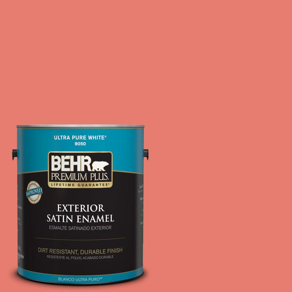 1-gal. #HDC-SM14-12 Cosmic Coral Satin Enamel Exterior Paint