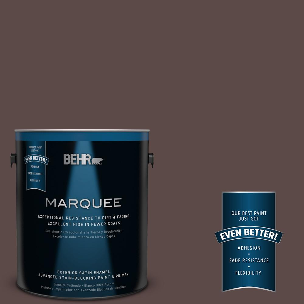 BEHR MARQUEE 1-gal. #740B-7 Smooth Coffee Satin Enamel Exterior Paint