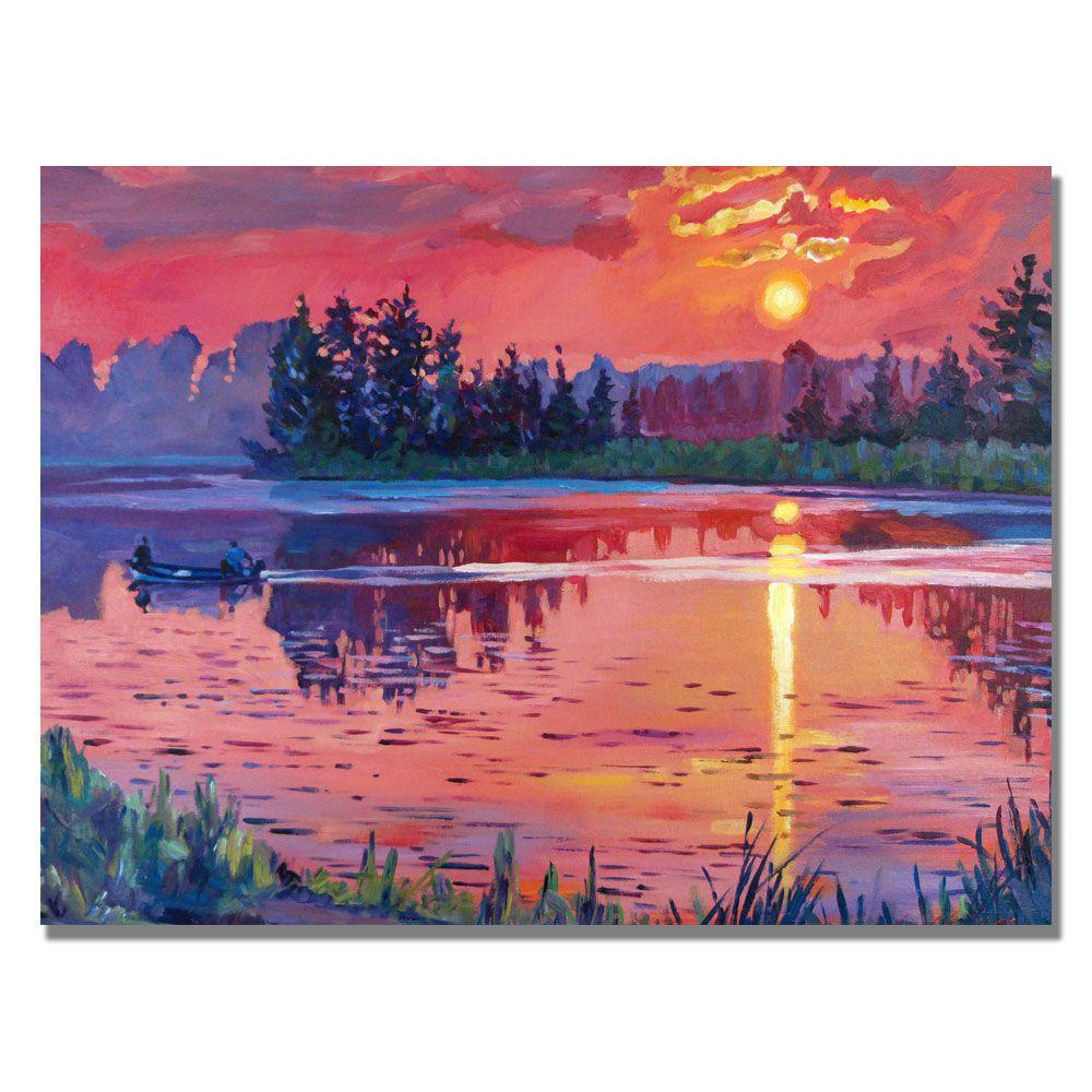 null 30 in. x 47 in. Daybreak Reflection Canvas Art