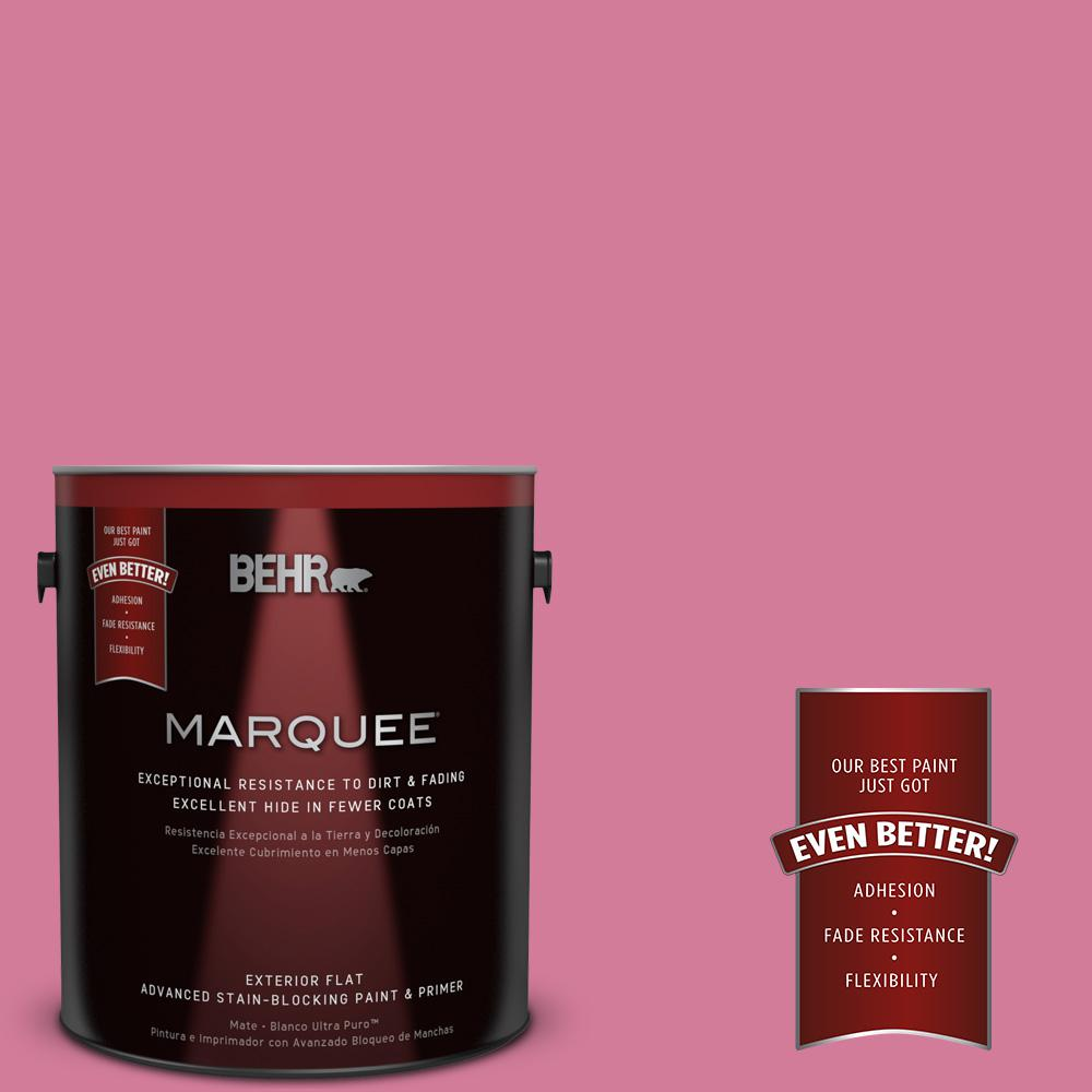 1-gal. #P130-5 Little Bow Pink Flat Exterior Paint