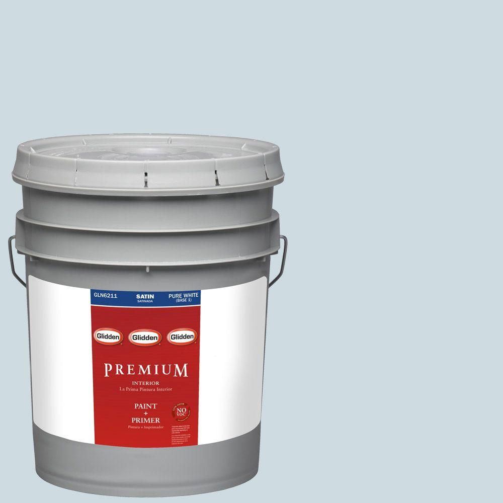 Glidden Premium 5-gal. #HDGCN31 Heavenly Blue Satin Latex Interior Paint with Primer