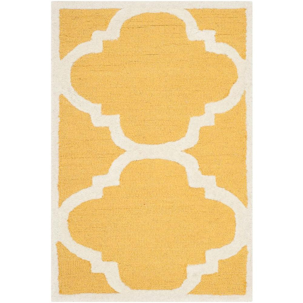 Cambridge Gold/Ivory 2 ft. x 3 ft. Area Rug