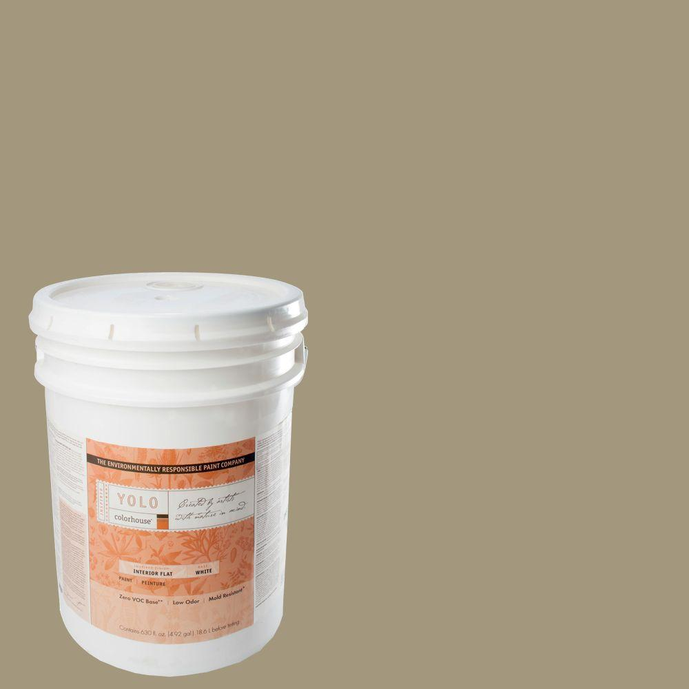 YOLO Colorhouse 5-gal. Nourish .04 Flat Interior Paint-DISCONTINUED