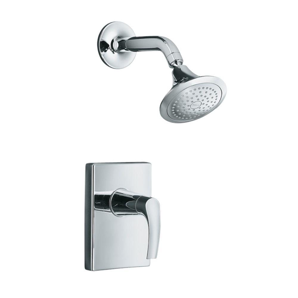 symbol 1handle shower faucet trim kit in polished chrome valve not included