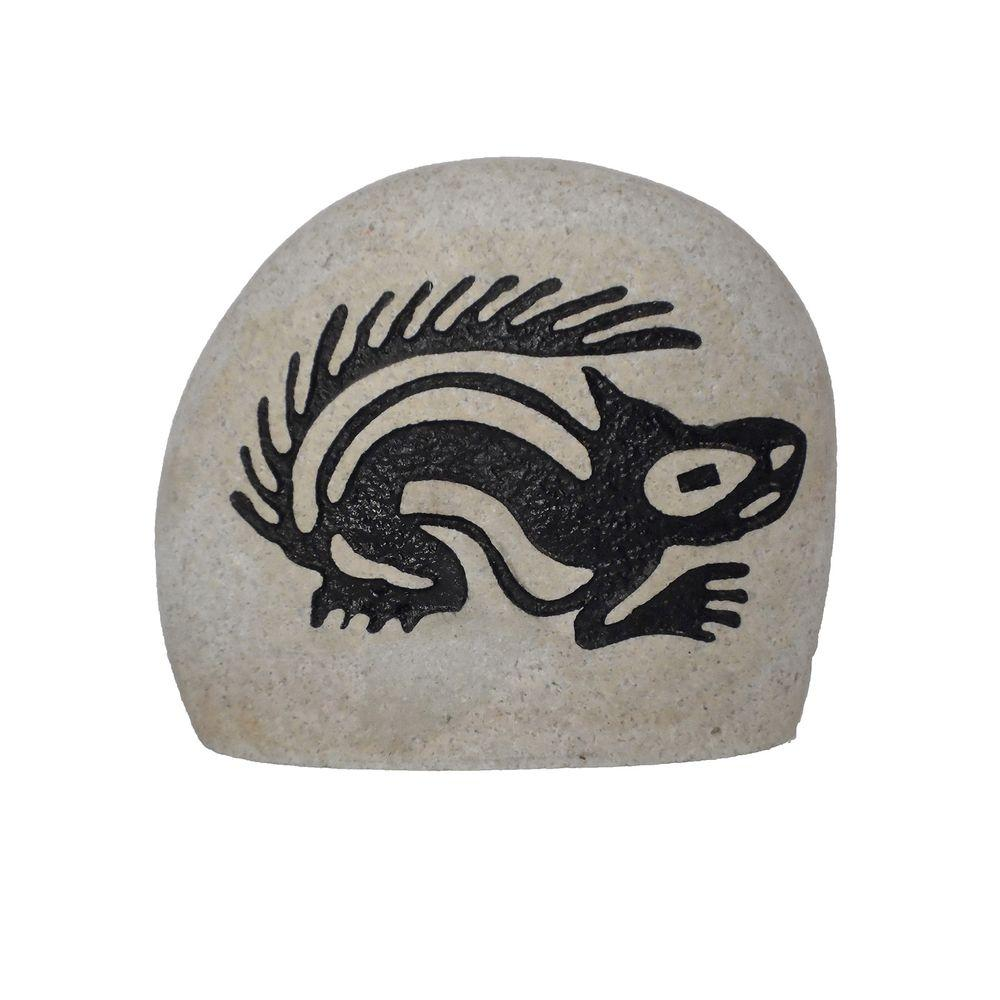 Butler Arts Sandblasted Stone with Diamond Cut Tribal Squirrel Design-DISCONTINUED