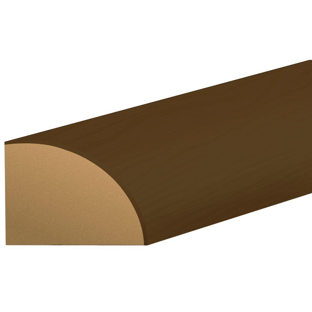 Shaw Southern Walnut 3/4 in. Thick x 0.63 in. Wide x 94 in. Length Laminate Quarter Round Molding