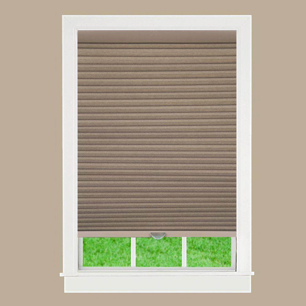 Perfect Lift Window Treatment Linen 1-1/2 in. Cordless Blackout Cellular Shade - 27.5 in. W x 64 in. L (Actual Size: 27.5 in. W x 64 in. L )