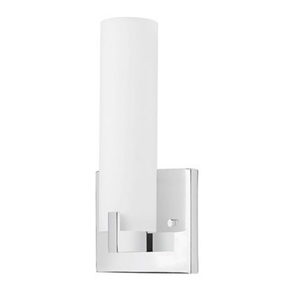Aurora 60-Watt Equivalence Chrome Integrated LED Sconce