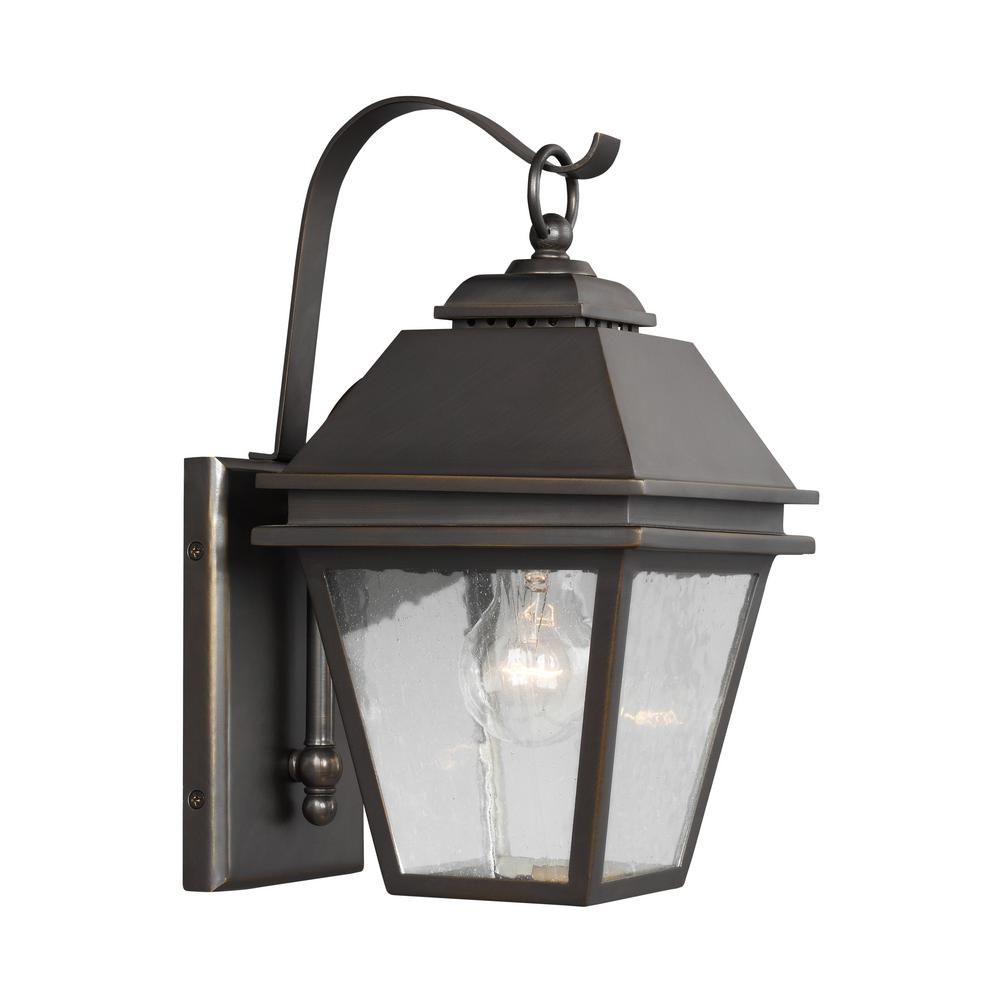 Herald 1-Light Antique Bronze Outdoor Wall Lantern
