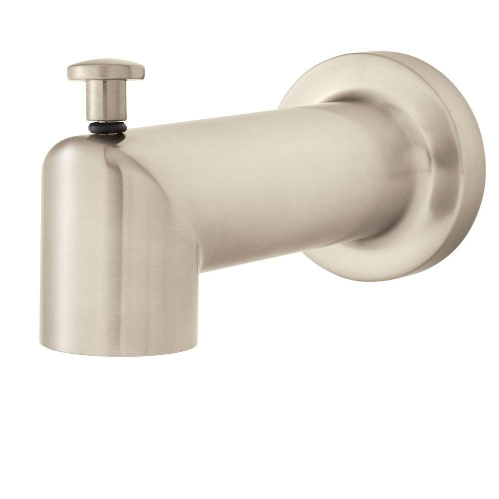 Neo Diverter 2.5 in. Tub Spout in Brushed Nickel (Valve and