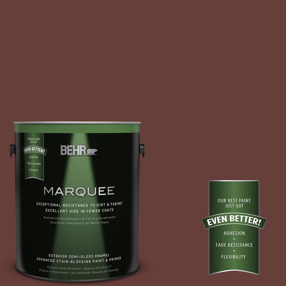 BEHR MARQUEE 1-gal. #PPU2-1 Chipotle Paste Semi-Gloss Enamel Exterior Paint