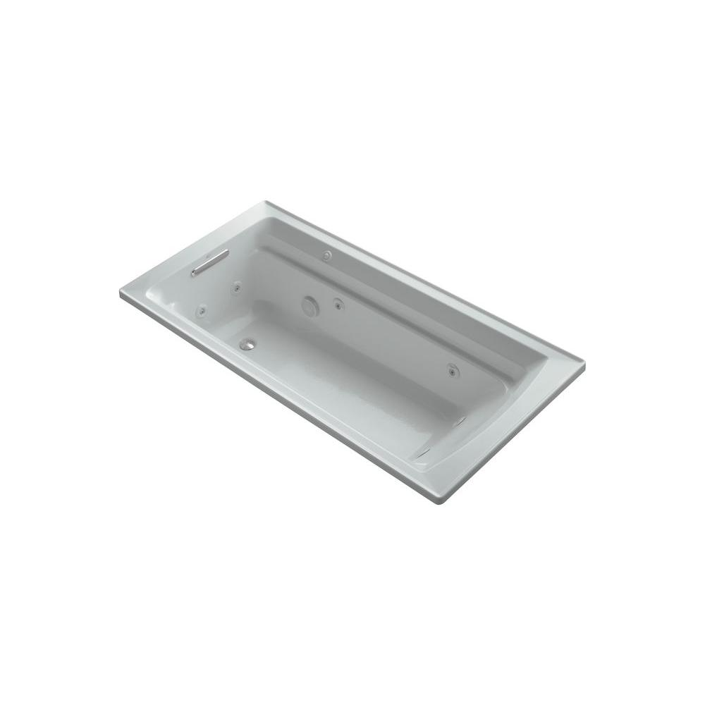 Archer 6 ft. Whirlpool Tub in Ice Grey