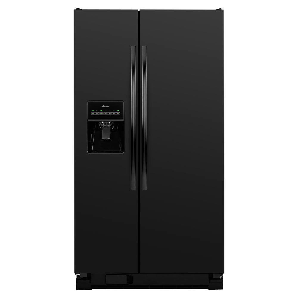 Amana 24.5 cu. ft. Side by Side Refrigerator in Black-ASD2575BRB -