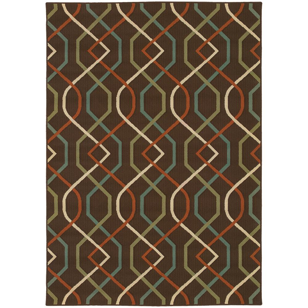 Illusion Brown 5 ft. 3 in. x 7 ft. 6 in.