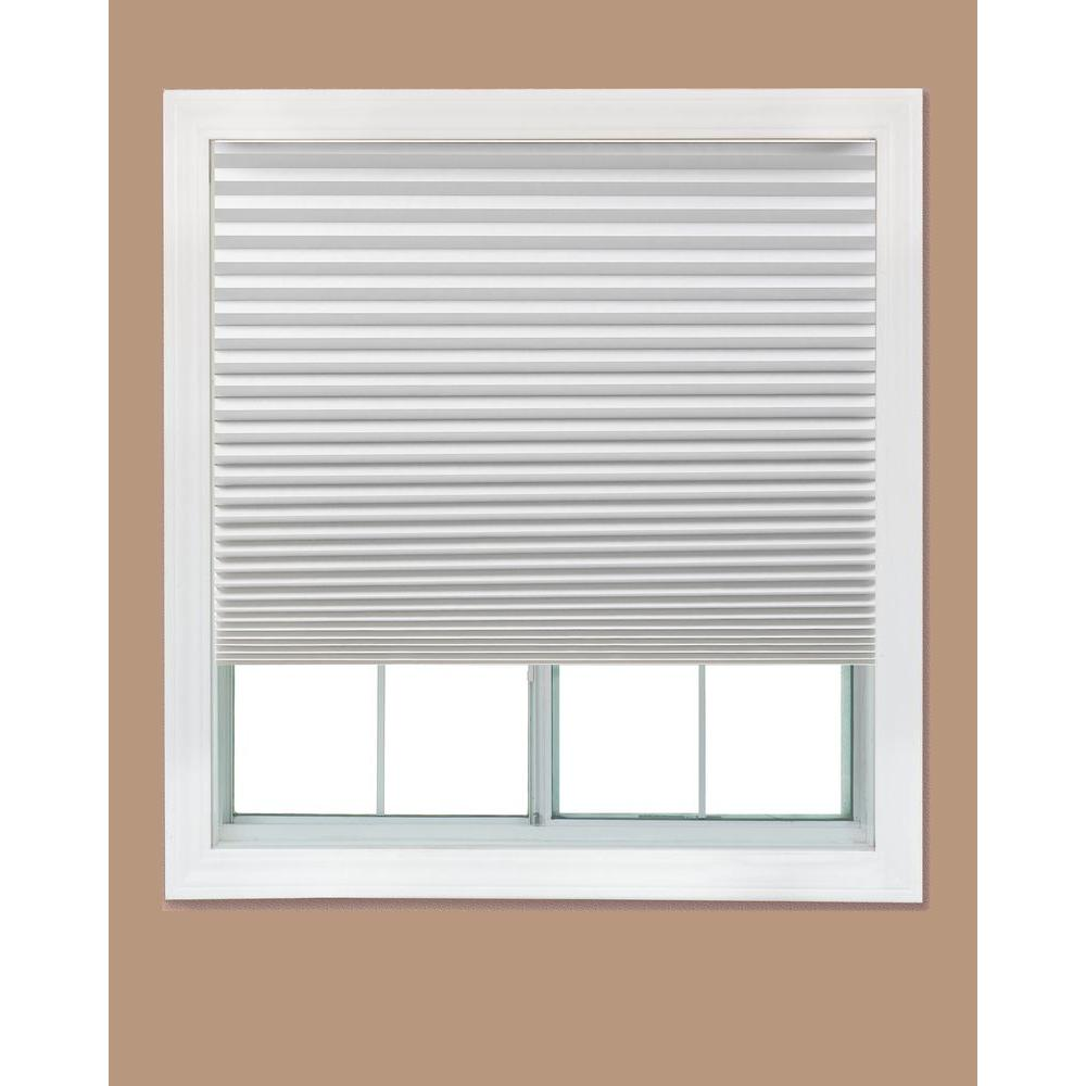 Redi shade white paper light filtering pleated shade 48 for Window home depot