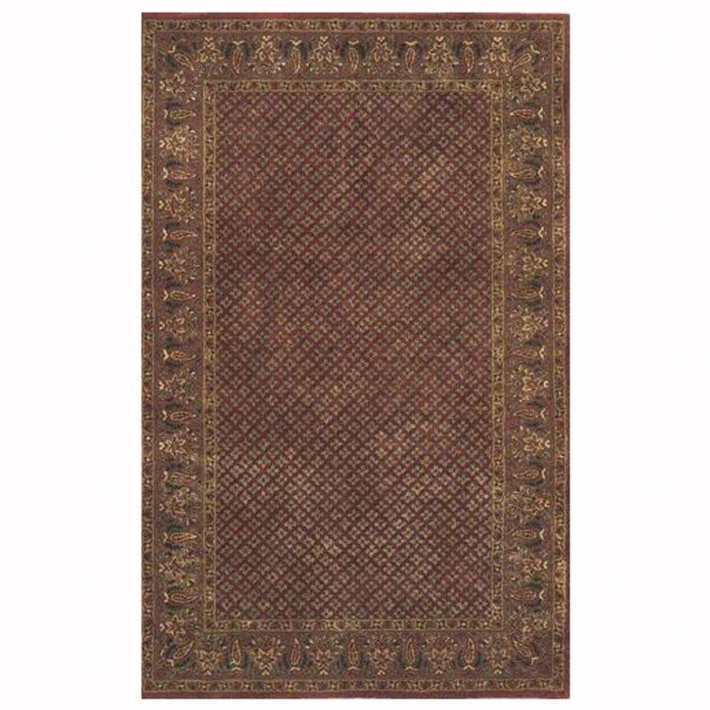 Home Decorators Collection Lichi Rust 5 ft. 3 in. x 8 ft. 3 in. Area Rug