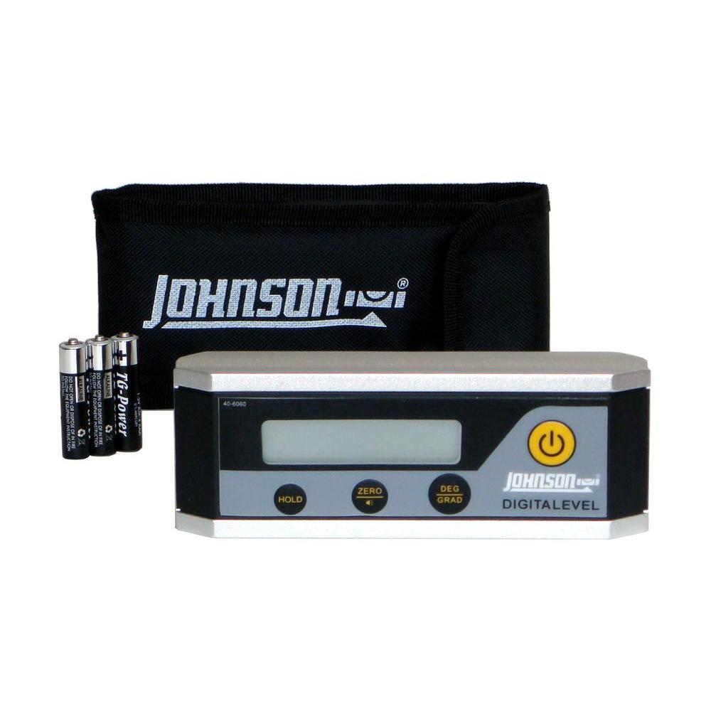 Johnson Electronic Level Inclinometer-40-6060 - The Home Depot