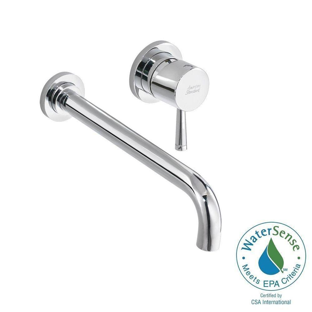 Serin Single-Handle Wall Mount Bathroom Faucet with Valve Body and Grid