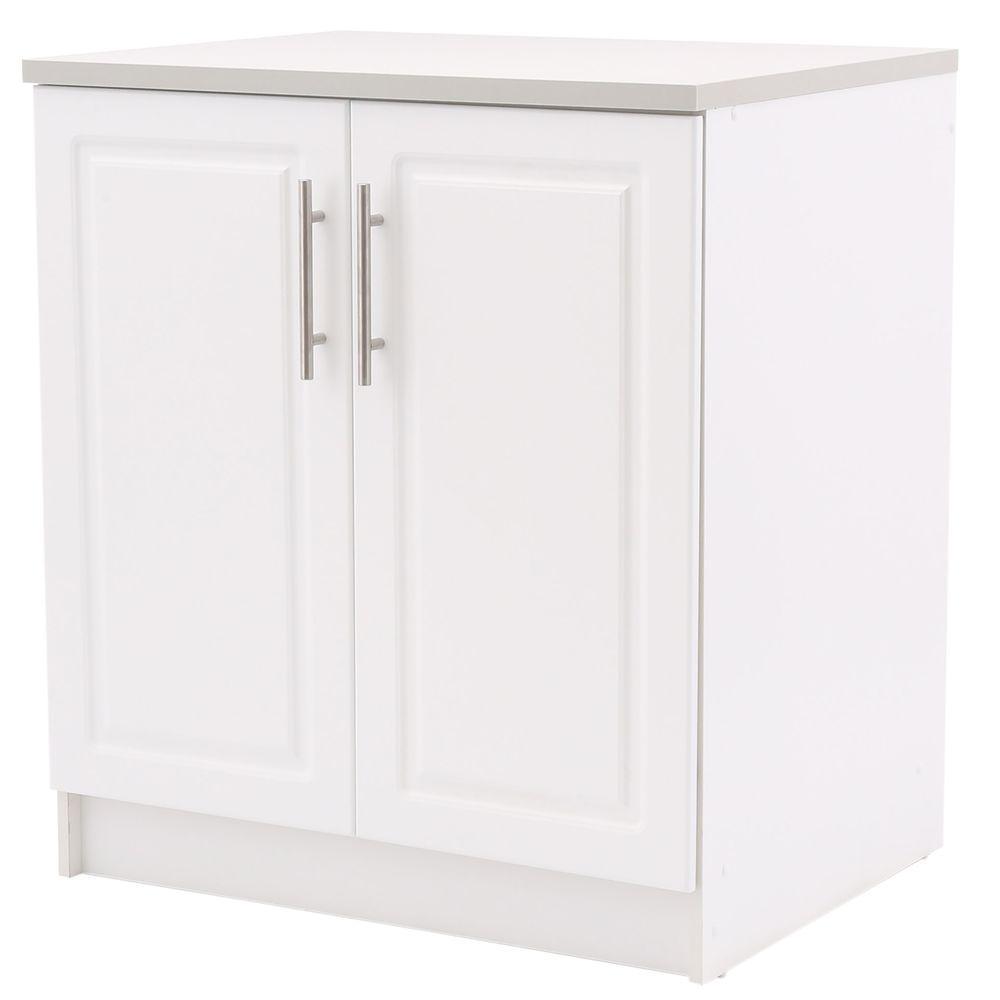 Hampton Bay Select 2-Door MDF Base Cabinet in White