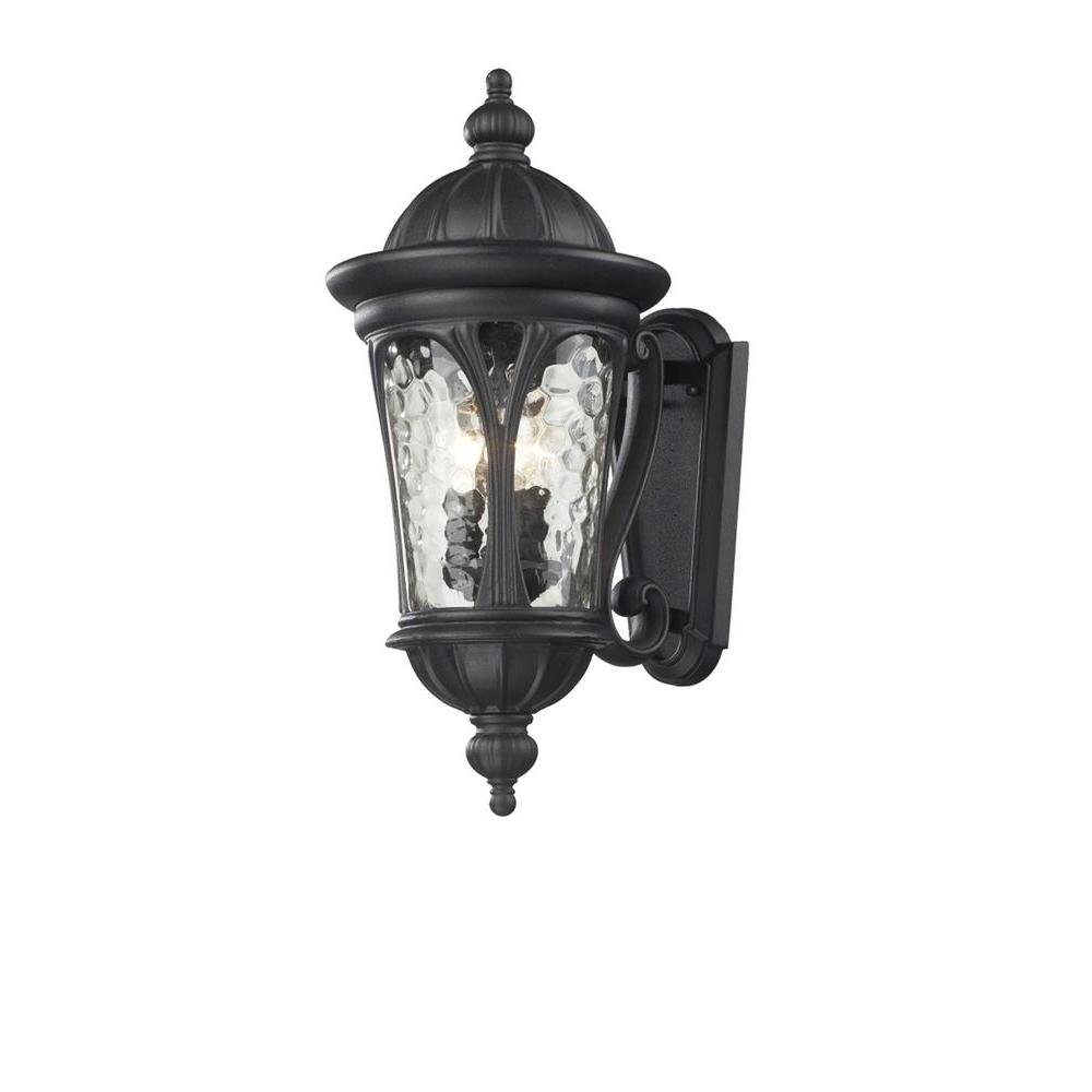Lawrence 3-Light Black Incandescent Outdoor Wall Light-CLI-JB543M-BK - The Home