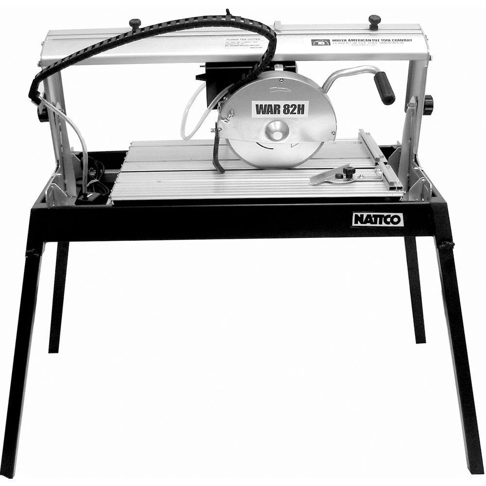 NATTCO 10 in. Plunge Bridge Tile Wet Saw With Stand-DISCONTINUED