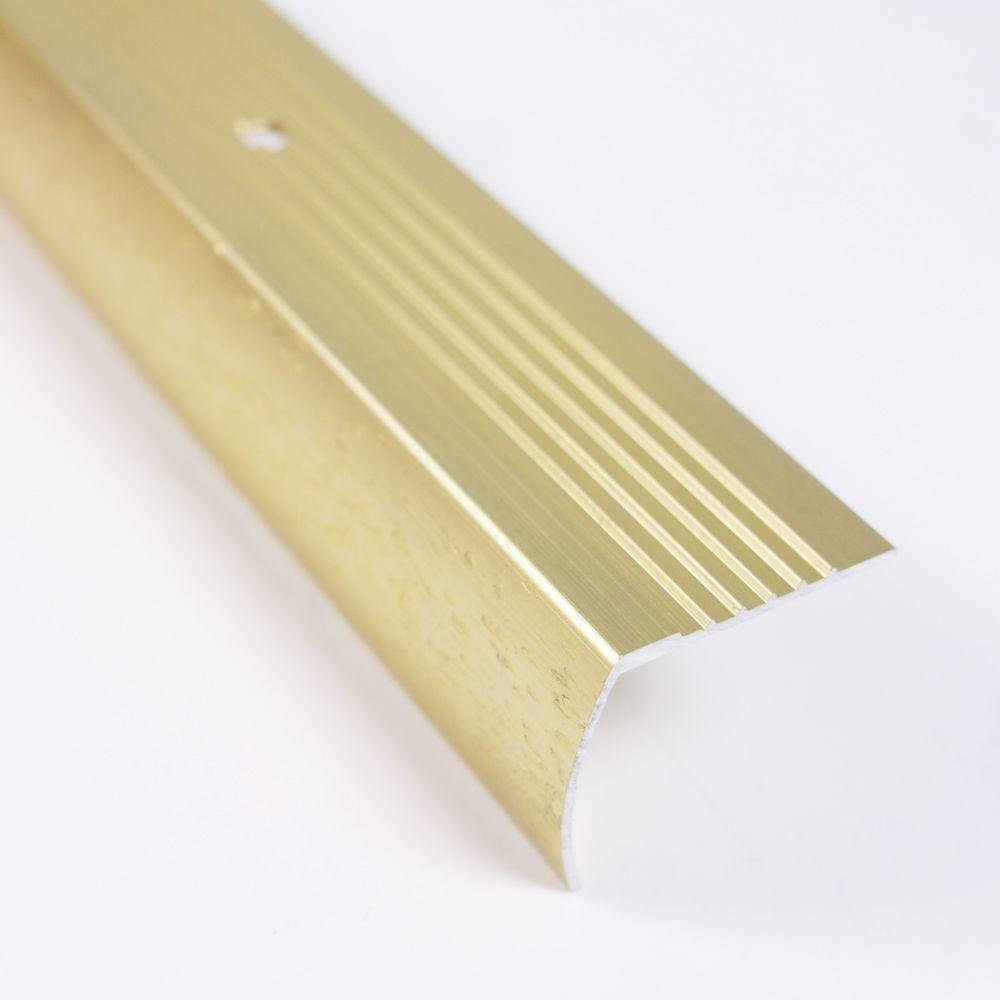 TrafficMASTER Satin Brass Fluted 36 in. Stair Edging-18542 - The Home