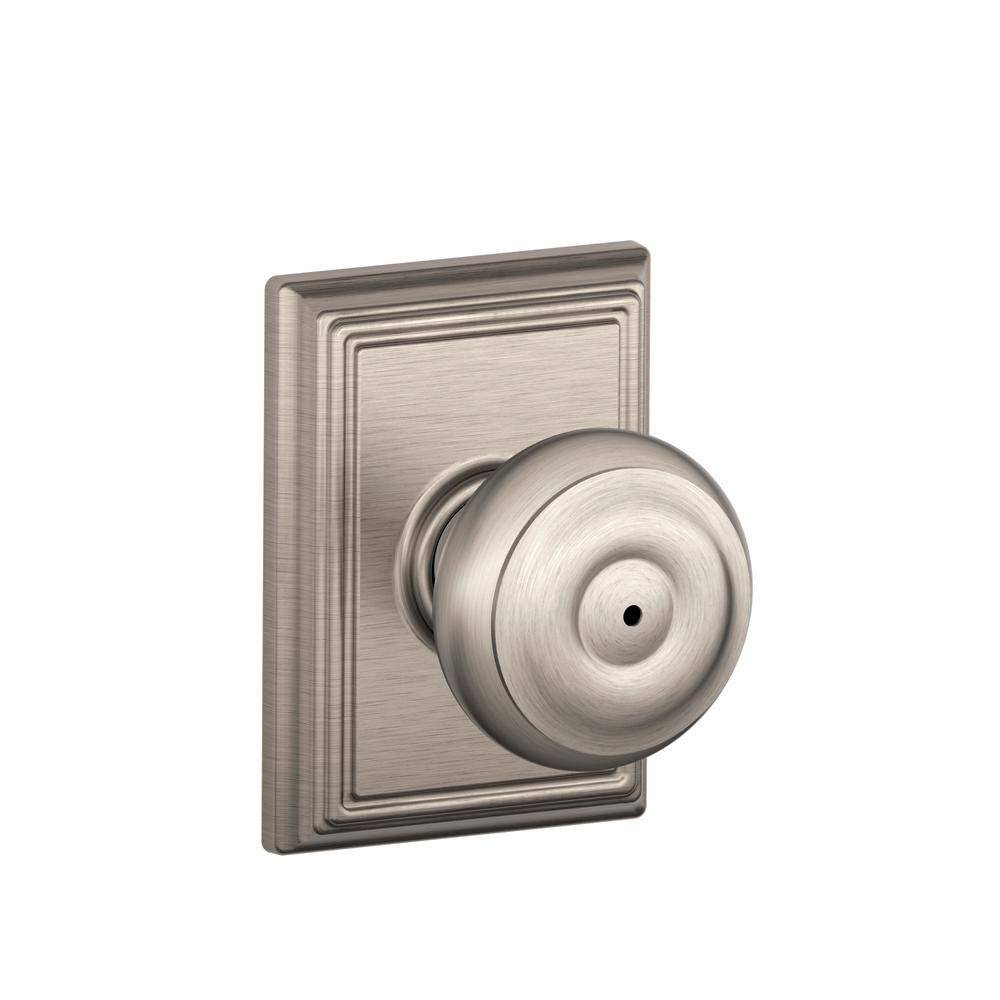 Addison Collection Georgian Satin Nickel Bed and Bath Knob