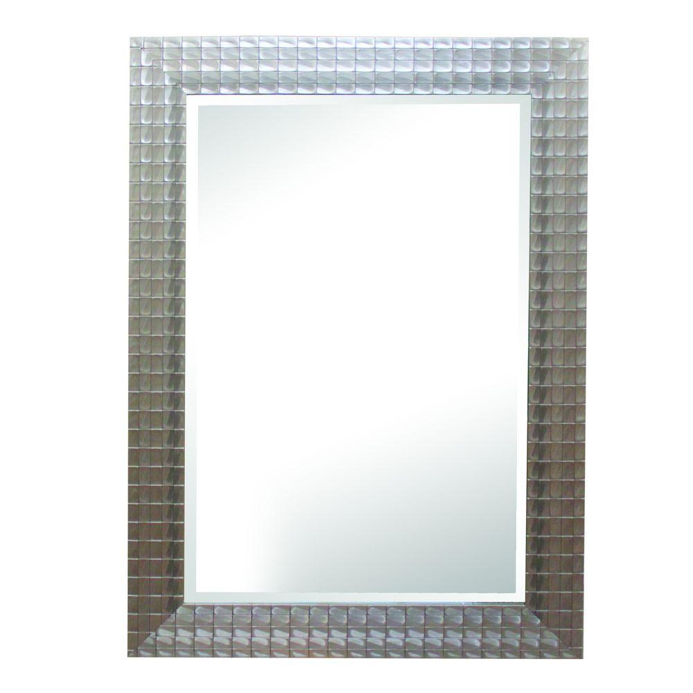 ... Home Decor Silver Blocks Mirror Frame-MINT020 - The Home Depot