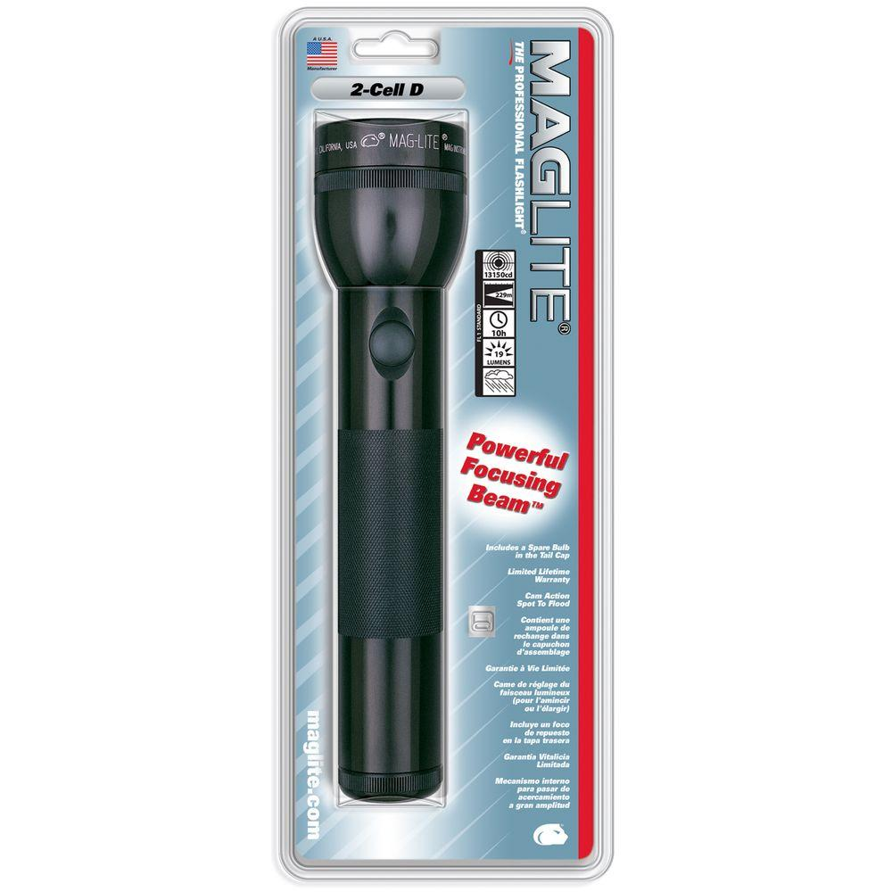 Maglite D-Cell Battery Incandescent Standard Aluminum Flashlight