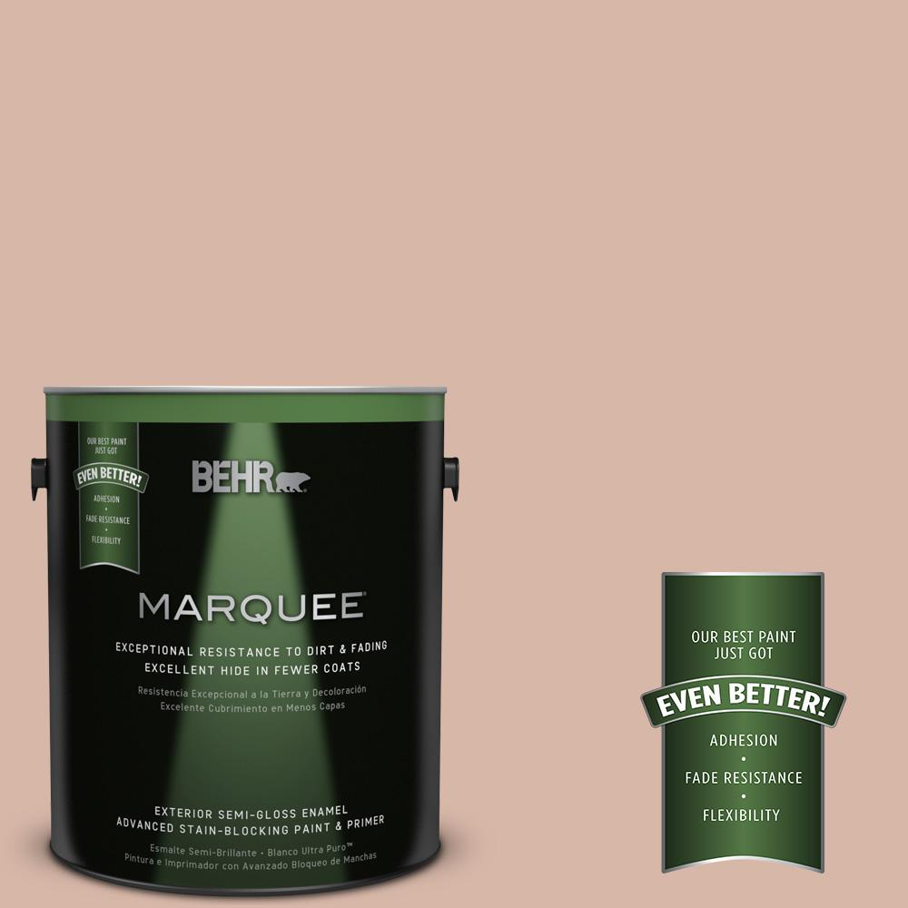 BEHR MARQUEE 1-gal. #S190-3 Sedona Pink Semi-Gloss Enamel Exterior Paint-545001