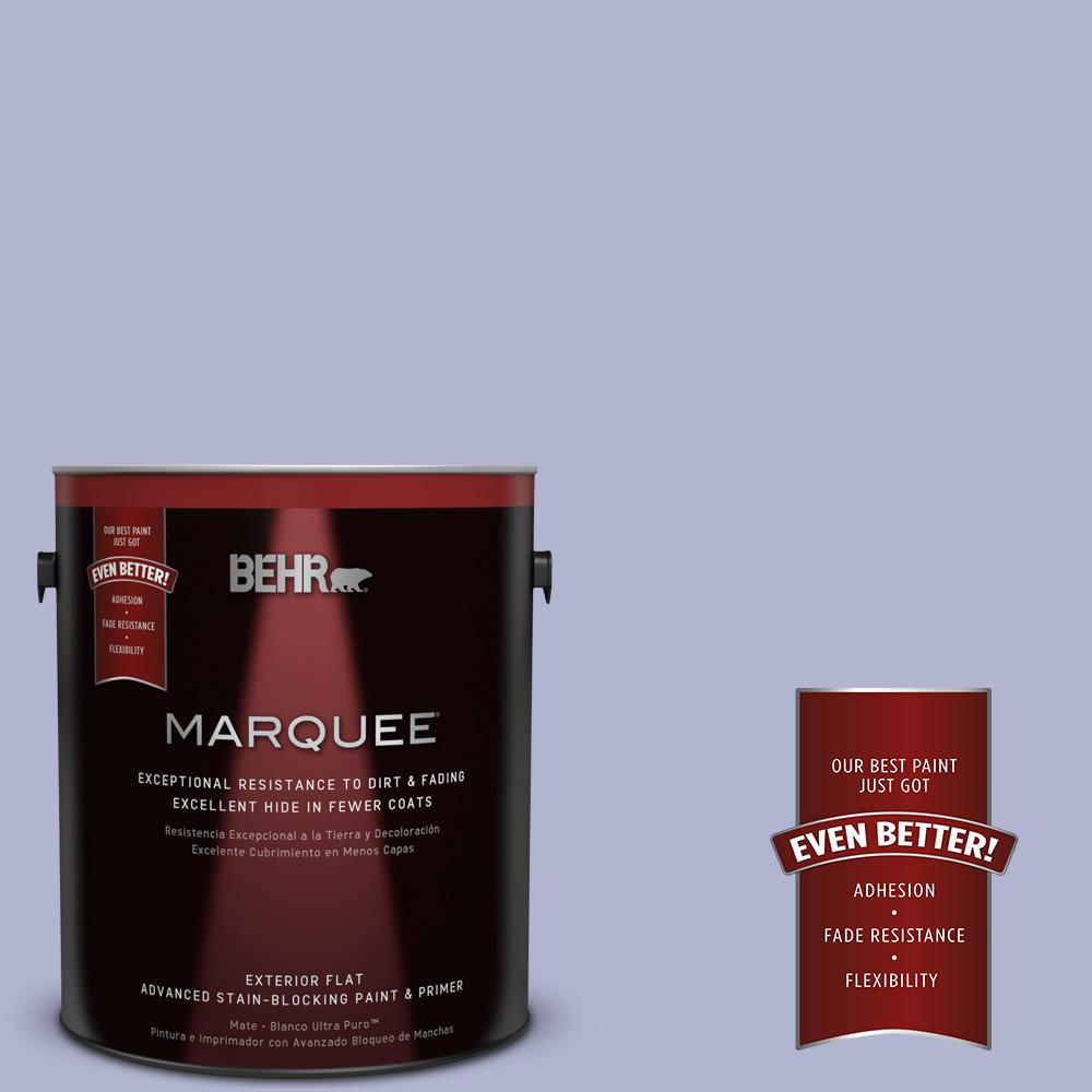 1-gal. #620C-3 Purple Surf Flat Exterior Paint