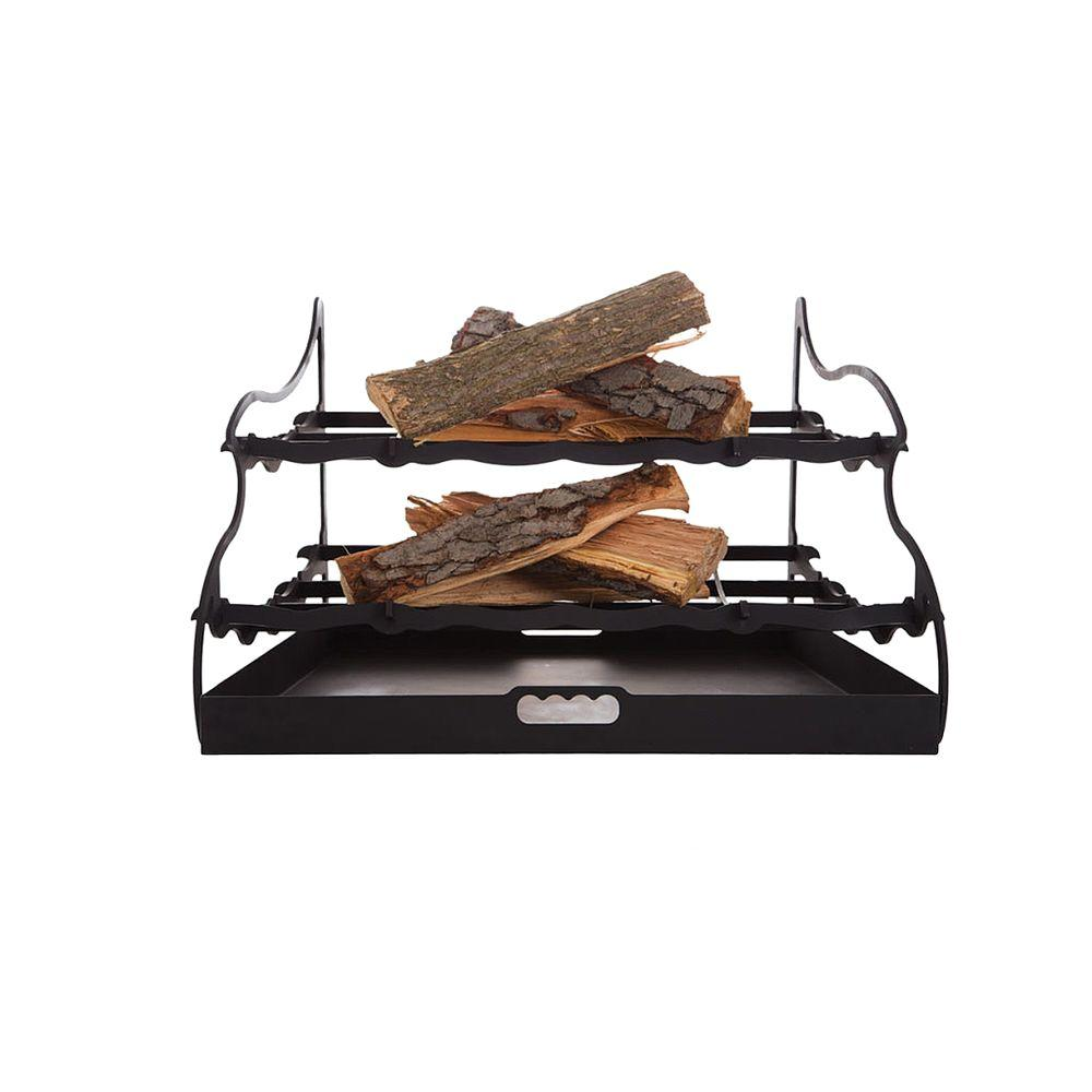 27 in. Dual-Tier Fireplace Grate