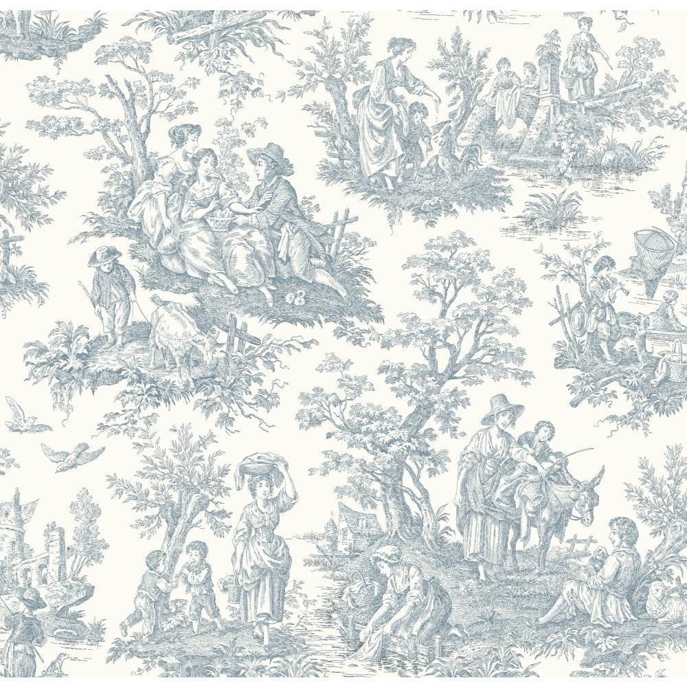 York Wallcoverings 56 sq. ft. Waverly Classics Country Life Wallpaper-WA7830 -