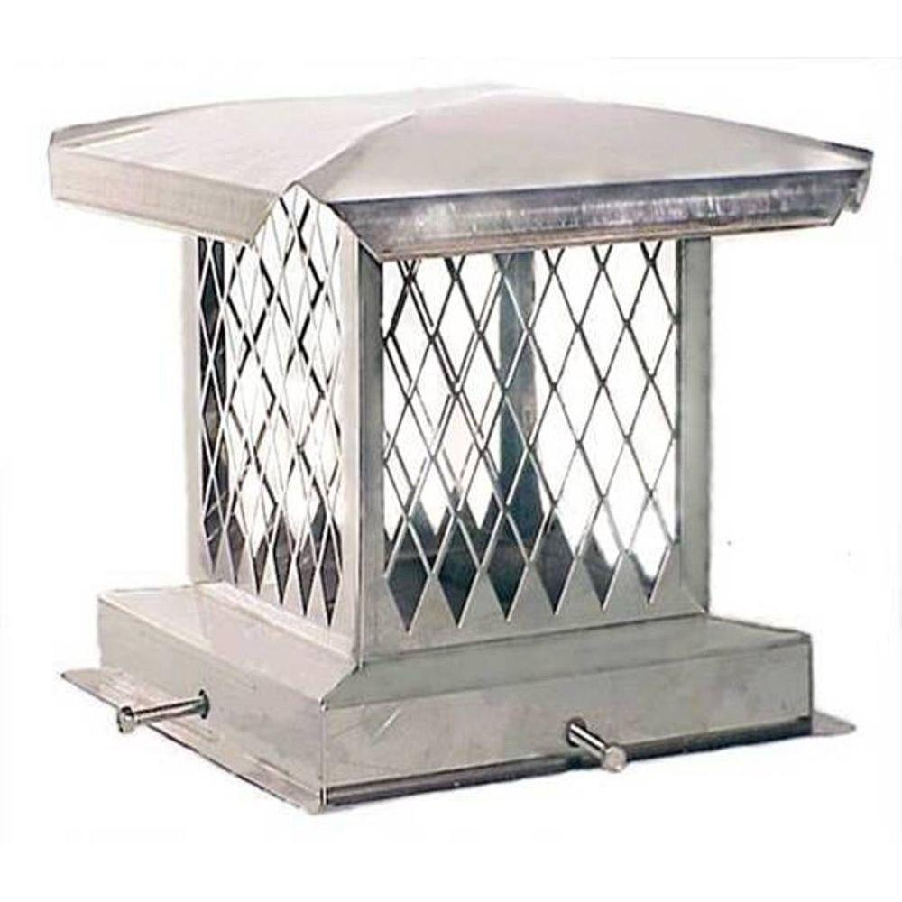 E-Series 8 in. x 13 in. Adjustable Stainless Steel Chimney Cap