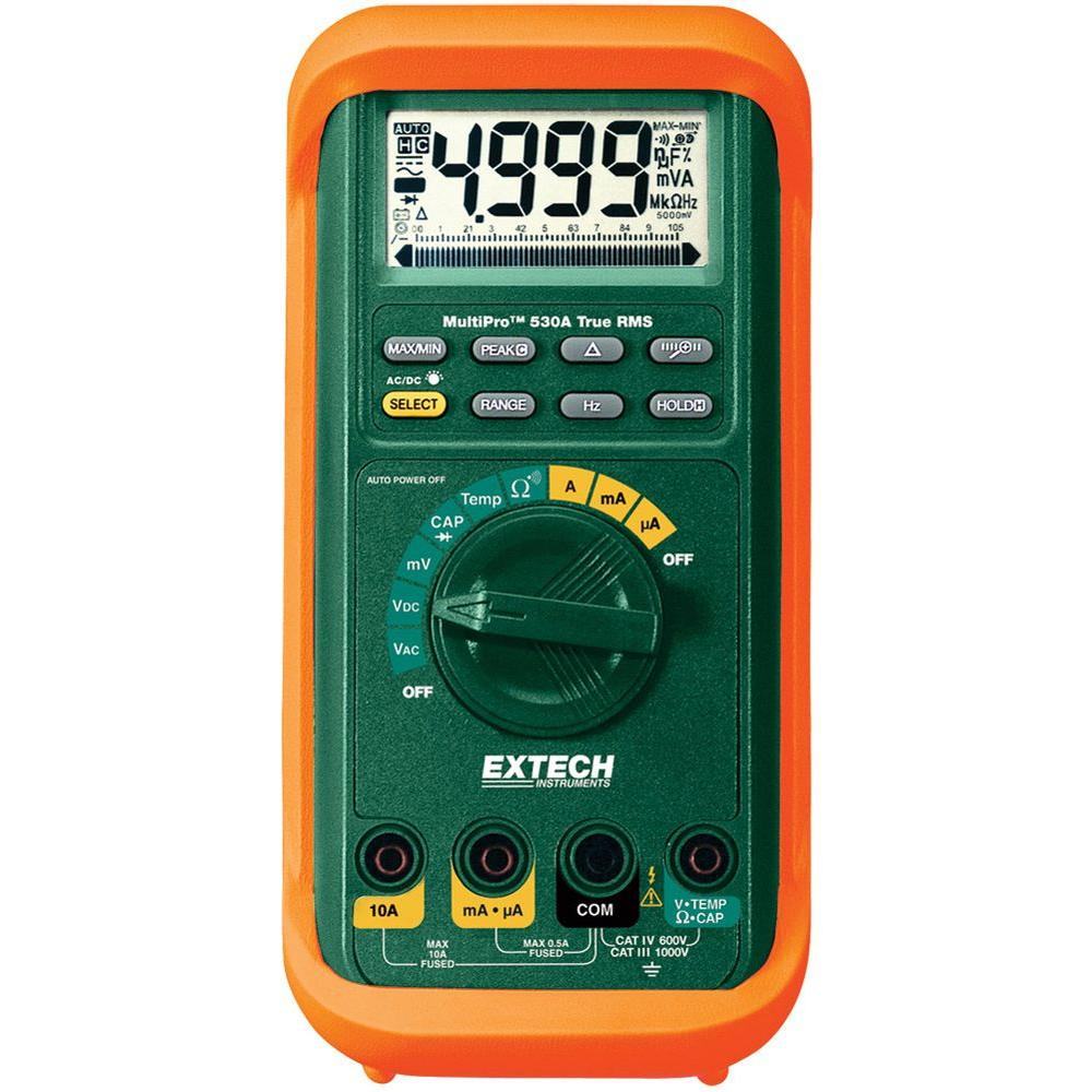 Manual Multimeter Multipro True RMS Professional with Temp